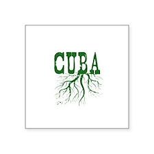 "Cuba Roots Square Sticker 3"" x 3"""