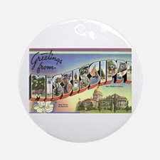 Greetings from Mississippi Ornament (Round)