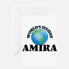 World's Sexiest Amira Greeting Cards