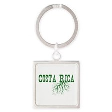 Costa Rica Roots Square Keychain