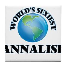 World's Sexiest Annalise Tile Coaster