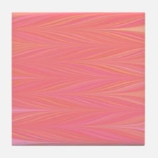 Pastle Pink Zigzag Tile Coaster