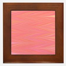 Pastle Pink Zigzag Framed Tile