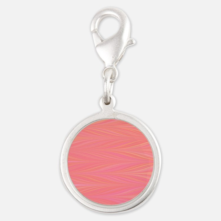 Pastle Pink Zigzag Charms