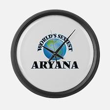 World's Sexiest Aryana Large Wall Clock