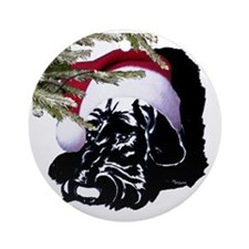 happy holidays giant in santa cap Ornament (Round)