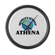 World's Sexiest Athena Large Wall Clock