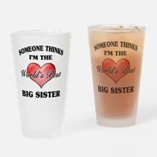 World's Best Big Sister (Heart) Drinking Glass
