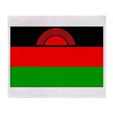 Malawi Flag Throw Blanket