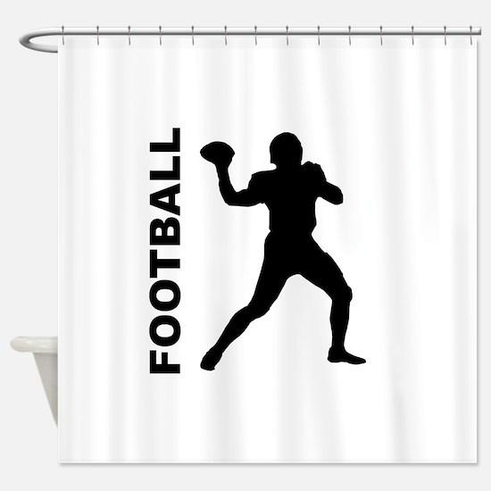 Football Quarterback Shower Curtain