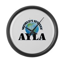 World's Sexiest Ayla Large Wall Clock