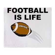 Football Is Life Throw Blanket