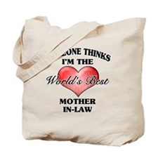 World's Best Mother-In-Law (Heart) Tote Bag