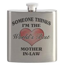 World's Best Mother-In-Law (Heart) Flask