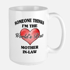 World's Best Mother-In-Law (Heart) Mug