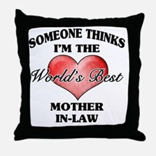 World's Best Mother-In-Law (Heart) Throw Pillow