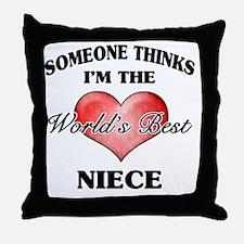 World's Best Niece (Heart) Throw Pillow