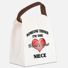 World's Best Niece (Heart) Canvas Lunch Bag