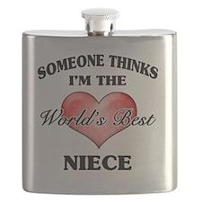 World's Best Niece (Heart) Flask