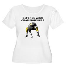 Defense Wins Championships Plus Size T-Shirt