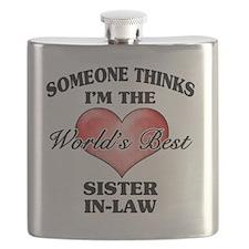 World's Best Sister-In-Law (Heart) Flask