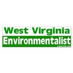 West Virginia Environmentalist Bumpersticker
