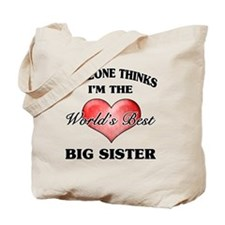 World's Best Big Sister (Heart) Tote Bag