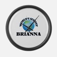 World's Sexiest Brianna Large Wall Clock