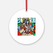 Radha and Krishna Ornament (Round)