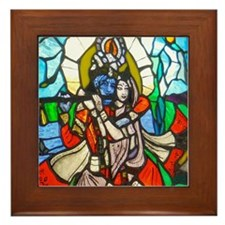 Radha and Krishna Framed Tile