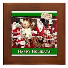 Santa Window Framed Tile