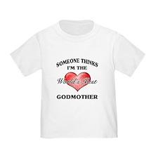 World's Best Godmother (Heart) T-Shirt