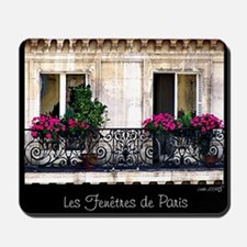 Windows Of Paris-Railing Mousepad