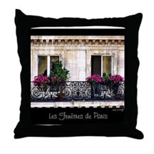 Windows Of Paris-Railing Throw Pillow
