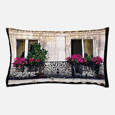 Windows Of Paris-Railing Pillow Case