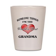 World's Best Grandma (Heart) Shot Glass