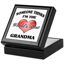 World's Best Grandma (Heart) Keepsake Box