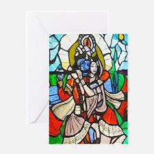 Radha and Krishna Greeting Cards