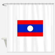 Laos Flag Shower Curtain