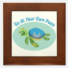 Go at Your Own Pace Framed Tile