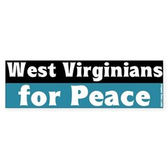 West Virginians for Peace Bumper Sticker