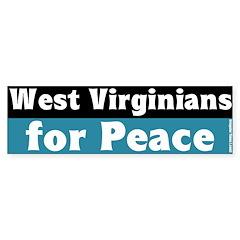 West Virginians for Peace Bumper Bumper Sticker