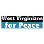West Virginians for Peace Bumper Sticker