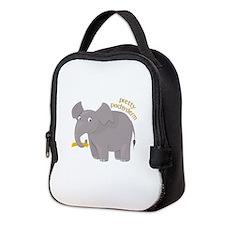 Pretty Pachyderm Neoprene Lunch Bag