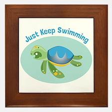 Just Keep Swimming Framed Tile