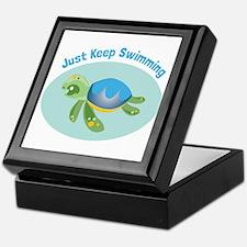 Just Keep Swimming Keepsake Box