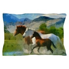 Horse Trio Pillow Case