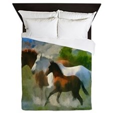 Horse Trio Queen Duvet