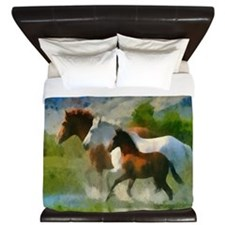 Horse Trio King Duvet