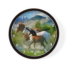 Horse Trio Wall Clock
